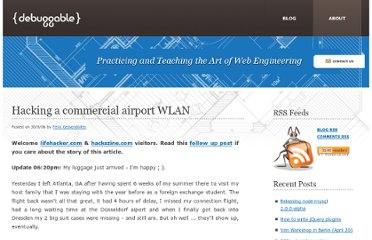 http://debuggable.com/posts/hacking-a-commercial-airport-wlan:480f4dd5-50a0-40c6-aa60-4afccbdd56cb