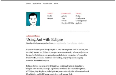 http://www.simonwhatley.co.uk/using-ant-with-eclipse