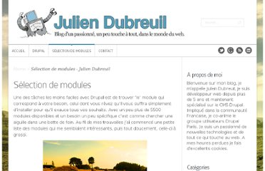 http://juliendubreuil.fr/selection-de-modules-pour-drupal
