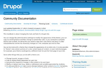 http://drupal.org/documentation/theme