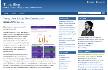 http://www.timdavies.org.uk/2010/11/17/young-lives-linked-data-demonstrator/