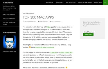 http://chris.pirillo.com/top-100-mac-apps/
