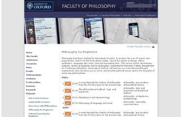 http://www.philosophy.ox.ac.uk/podcasts/philosophy_for_beginners