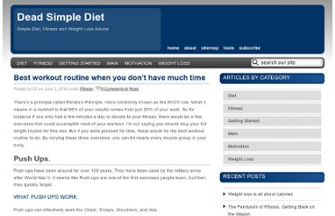 http://deadsimplediet.com/2010/06/best-workout-routine-when-you-dont-have-much-time/