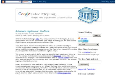 http://googlepublicpolicy.blogspot.com/2009/11/automatic-captions-on-youtube.html