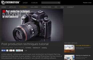 http://www.evermotion.org/tutorials/show/7964/post-production-techniques-tutorial