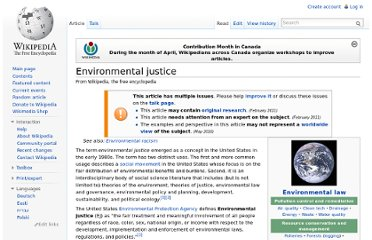 http://en.wikipedia.org/wiki/Environmental_justice