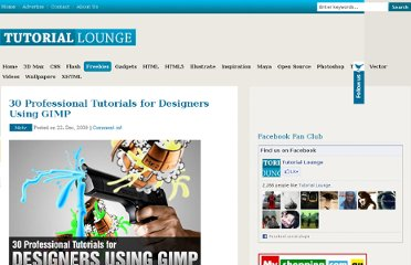 http://www.tutoriallounge.com/2009/12/30-professional-tutorials-for-designers-using-gimp/