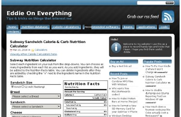 http://www.eddieoneverything.com/calculators/subway-sandwich-calorie-carb-nutrition-calculator.php