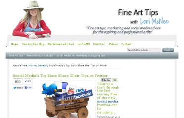 http://www.finearttips.com/2010/11/social-medias-top-stars-share-their-tips-on-twitter/