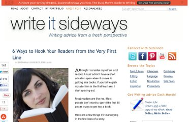http://writeitsideways.com/6-ways-to-hook-your-readers-from-the-very-first-line/