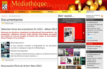 http://mediatheque.ville-bagnolet.fr/-Documentaires-.html