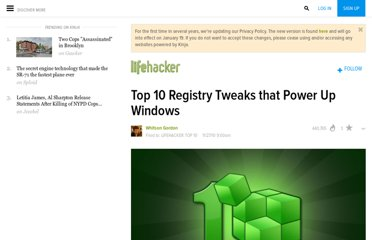 http://lifehacker.com/5700084/top-10-registry-tweaks-that-power-up-windows