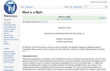 http://en.wikisource.org/wiki/Mind_is_a_Myth