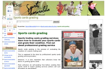 http://www.2-clicks-sportsmemorabilia.com/article/sports-cards-grading.html