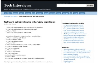 http://www.techinterviews.com/network-administrator-interview-questions