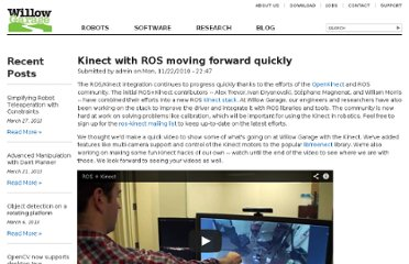 http://www.willowgarage.com/blog/2010/11/22/kinect-ros-moving-forward-quickly