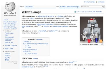 http://fr.wikipedia.org/wiki/Willow_Garage