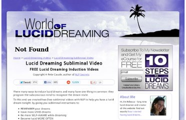 http://www.world-of-lucid-dreaming.com/videos/lucid-dreaming-subliminal-video.html