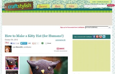 http://www.craftstylish.com/item/42148/how-to-make-a-kitty-hat-for-humans