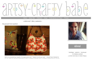 http://artsycraftybabe.typepad.com/artsycrafty_babe/2009/06/the-people-have-spoken.html