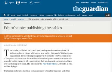 http://www.guardian.co.uk/world/2010/nov/28/editors-note-wikileaks-embassy-cables