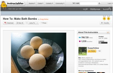 http://www.instructables.com/id/How-To-Make-Bath-Bombs/