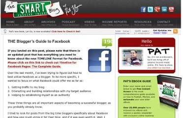 http://www.smartpassiveincome.com/the-bloggers-guide-to-facebook/