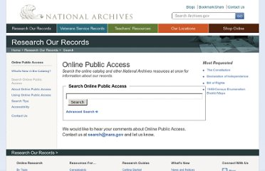 http://www.archives.gov/research/arc/topics/rg-collections/