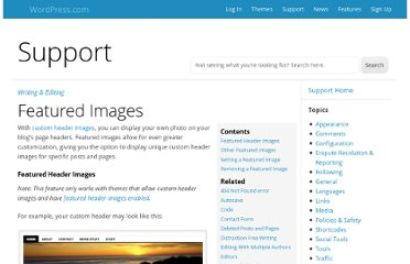http://en.support.wordpress.com/featured-images/
