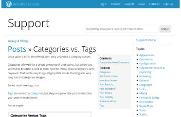 http://en.support.wordpress.com/posts/categories-vs-tags/