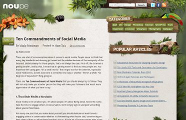 http://www.noupe.com/how-tos/ten-commandments-of-social-media.html