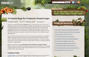 http://www.noupe.com/tools/15-helpful-blogs-no-freelancer-should-forget.html