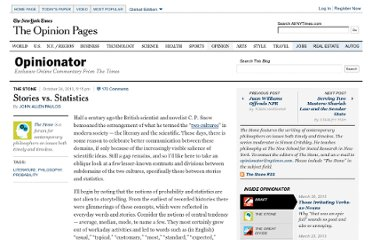 http://opinionator.blogs.nytimes.com/2010/10/24/stories-vs-statistics/
