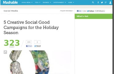 http://mashable.com/2010/11/29/social-good-campaigns-holidays/