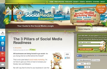 http://www.socialmediaexaminer.com/the-3-pillars-of-social-media-readiness/