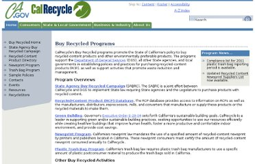 http://www.calrecycle.ca.gov/BuyRecycled/