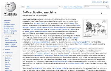 http://en.wikipedia.org/wiki/Self-replicating_machine