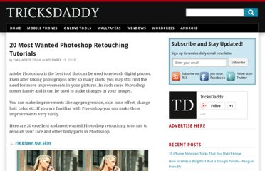 http://www.tricksdaddy.com/2010/11/most-wanted-photoshop-photo-retouching-tutorials.html