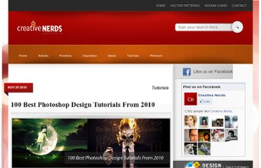 http://creativenerds.co.uk/tutorials/100-best-photoshop-design-tutorials-from-2010/