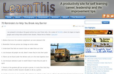 http://learnthis.ca/2010/04/70-reminders-to-help-you-break-any-barrier/