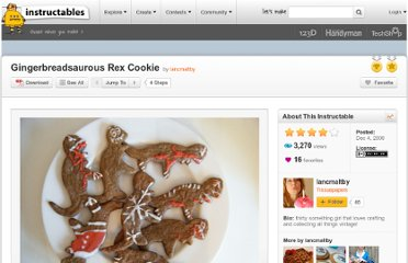 http://www.instructables.com/id/Gingerbreadsaurous-Rex-Cookie/