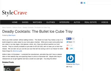 http://stylecrave.com/2008-10-09/deadly-cocktails-the-bullet-ice-cube-tray/