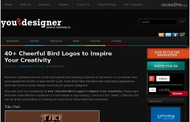 http://www.youthedesigner.com/2010/09/30/40-cheerful-bird-logos-to-inspire-your-creativity/