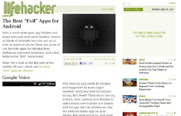 http://lifehacker.com/5675311/the-best-evil-apps-for-android