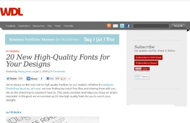 http://webdesignledger.com/freebies/20-new-high-quality-fonts-for-your-designs