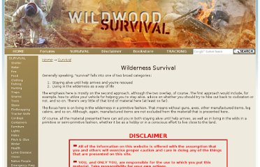 http://www.wildwoodsurvival.com/survival/index.html