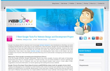 http://www.webguru-india.com/blog/7-best-google-tools-for-website-design-and-development-project/