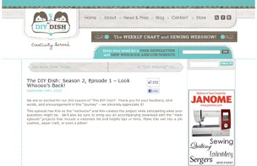 http://www.thediydish.com/2010/09/the-diy-dish-season2-episode1-look-whooos-back/