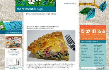 http://www.merrimentdesign.com/spinach-ham-and-parmesan-quiche.php